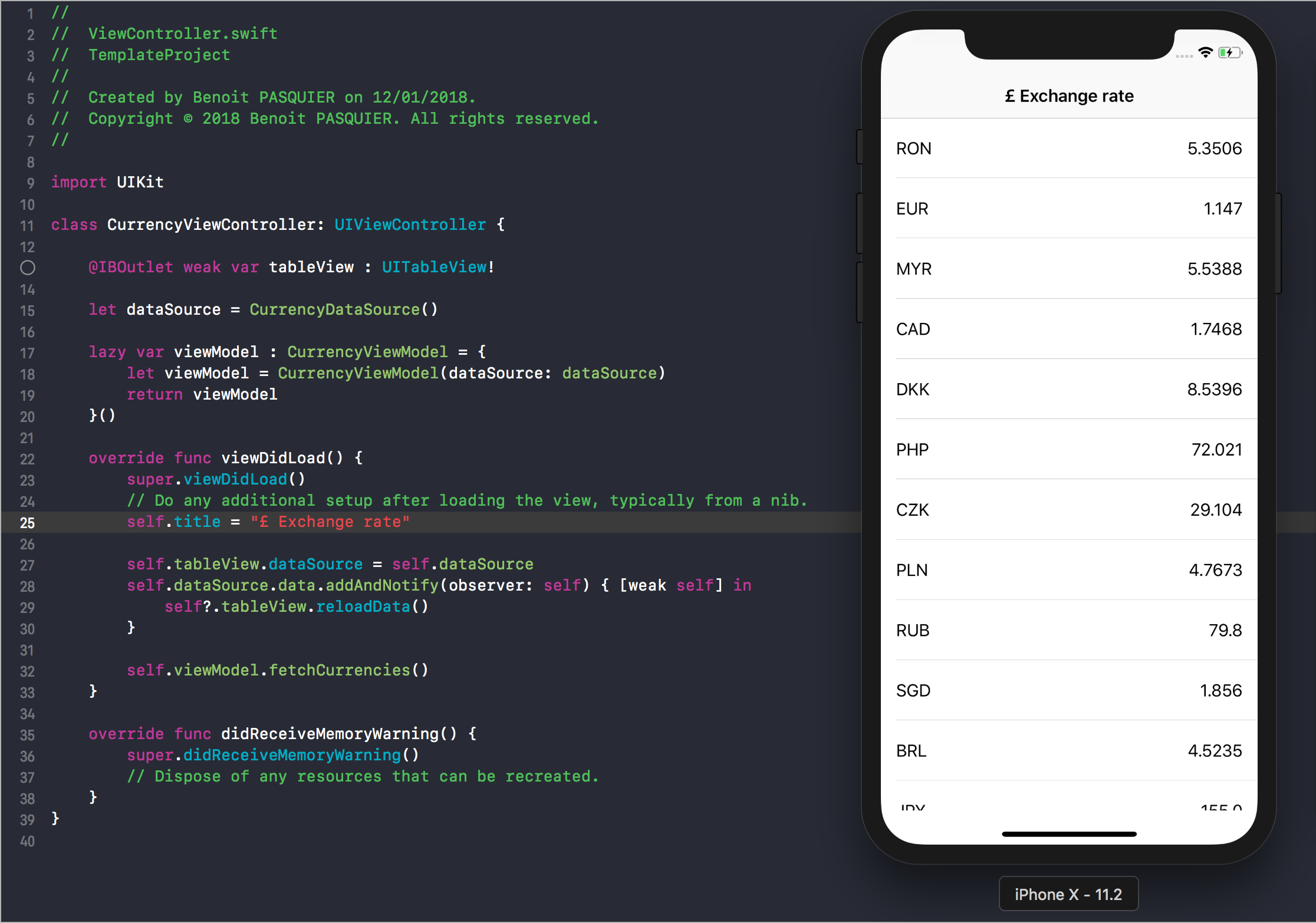 iOS MVVM Pattern