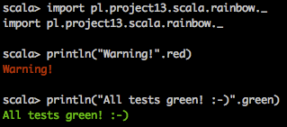 Scala Rainbow Demo