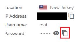 Masternode server information