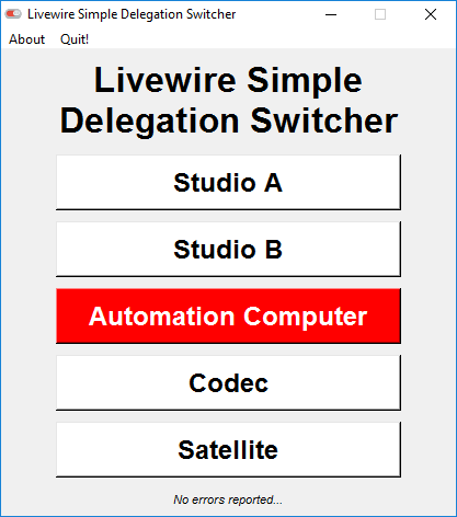 Livewire Simple Delegation Switcher - Screenshot