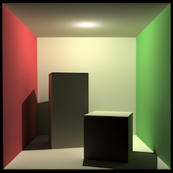 Cornell box rendered by our pathtracer