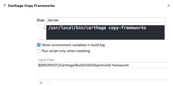 Carthage Copy Frameworks