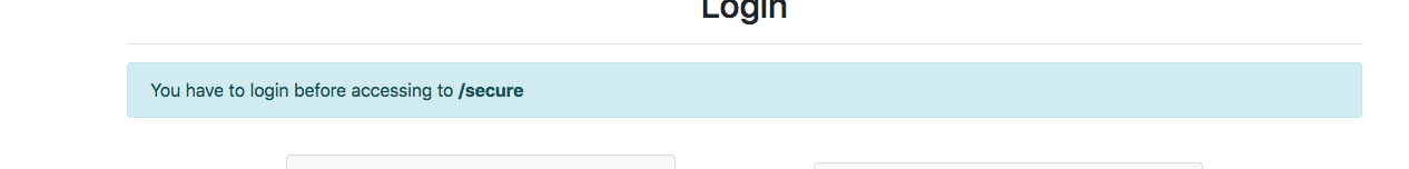 Not redirecting after login when going directly on the route · Issue