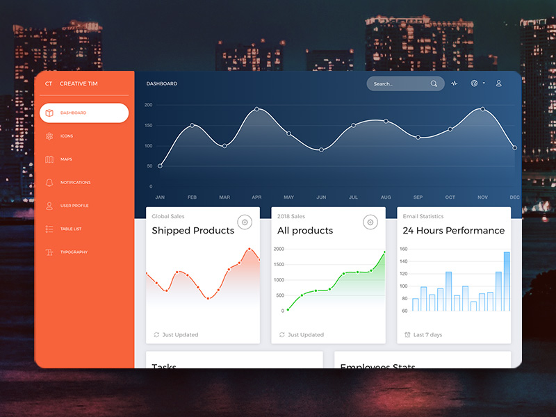 now-ui Dashboard HTML