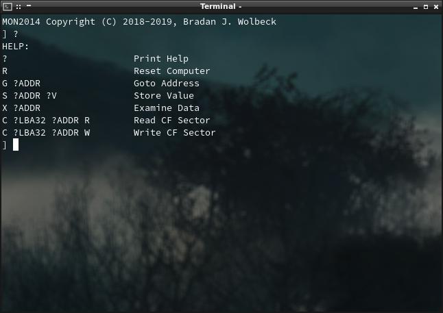 Screenshot of Help Screen