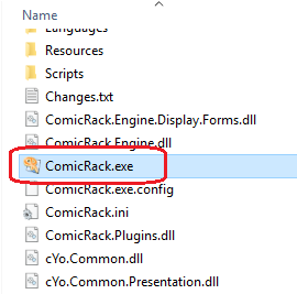Image of ComicRack.exe