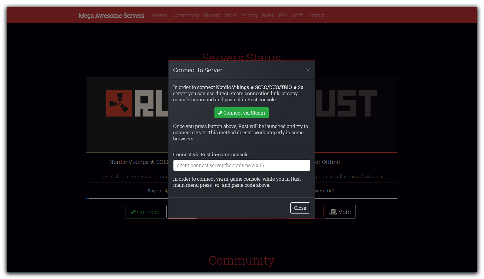 GitHub - Mo45/Rust-Server-Website-Template: Website Template
