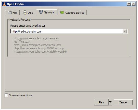 VLCnetwork