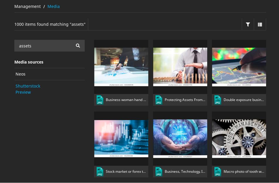 Neos Media Browser