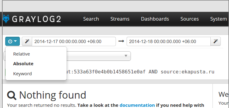 How to search by date range? · Issue #994 · graylog-labs