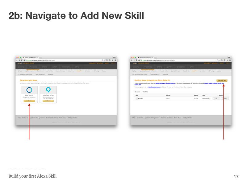 Step 2b: Navigate to Add New Skill