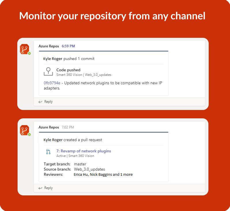 Azure Repos app for Microsoft Teams