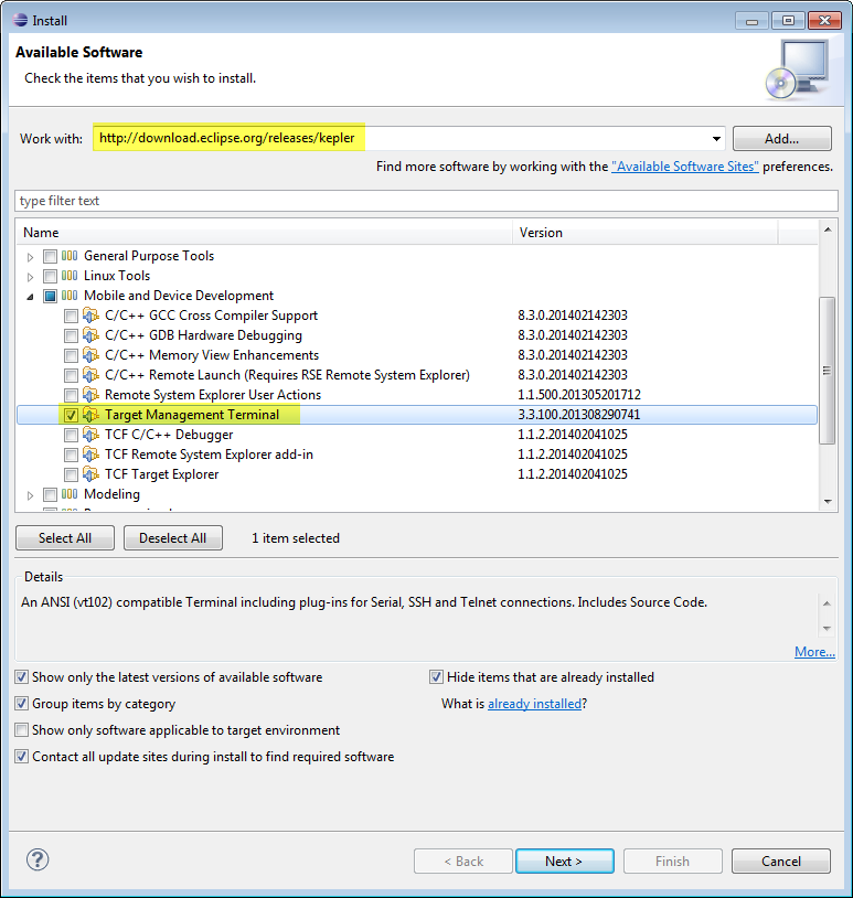 Integrating a serial output window with Eclipse · theolind