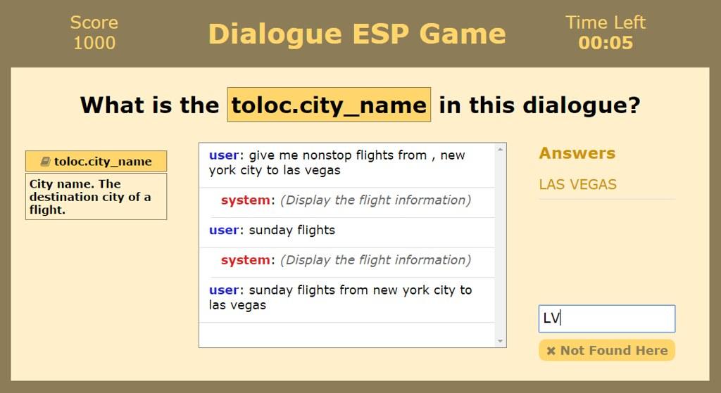 Dialogue ESP Game Interface
