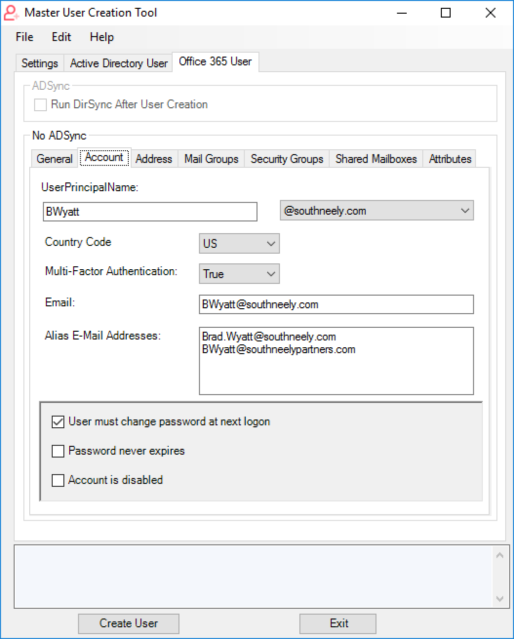 GitHub - bwya77/Master-User-Creator: GUI Application written in
