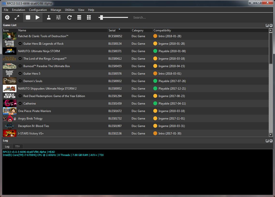 RPCS3 GUI
