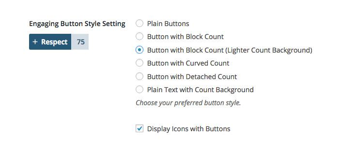 Button design settings panel