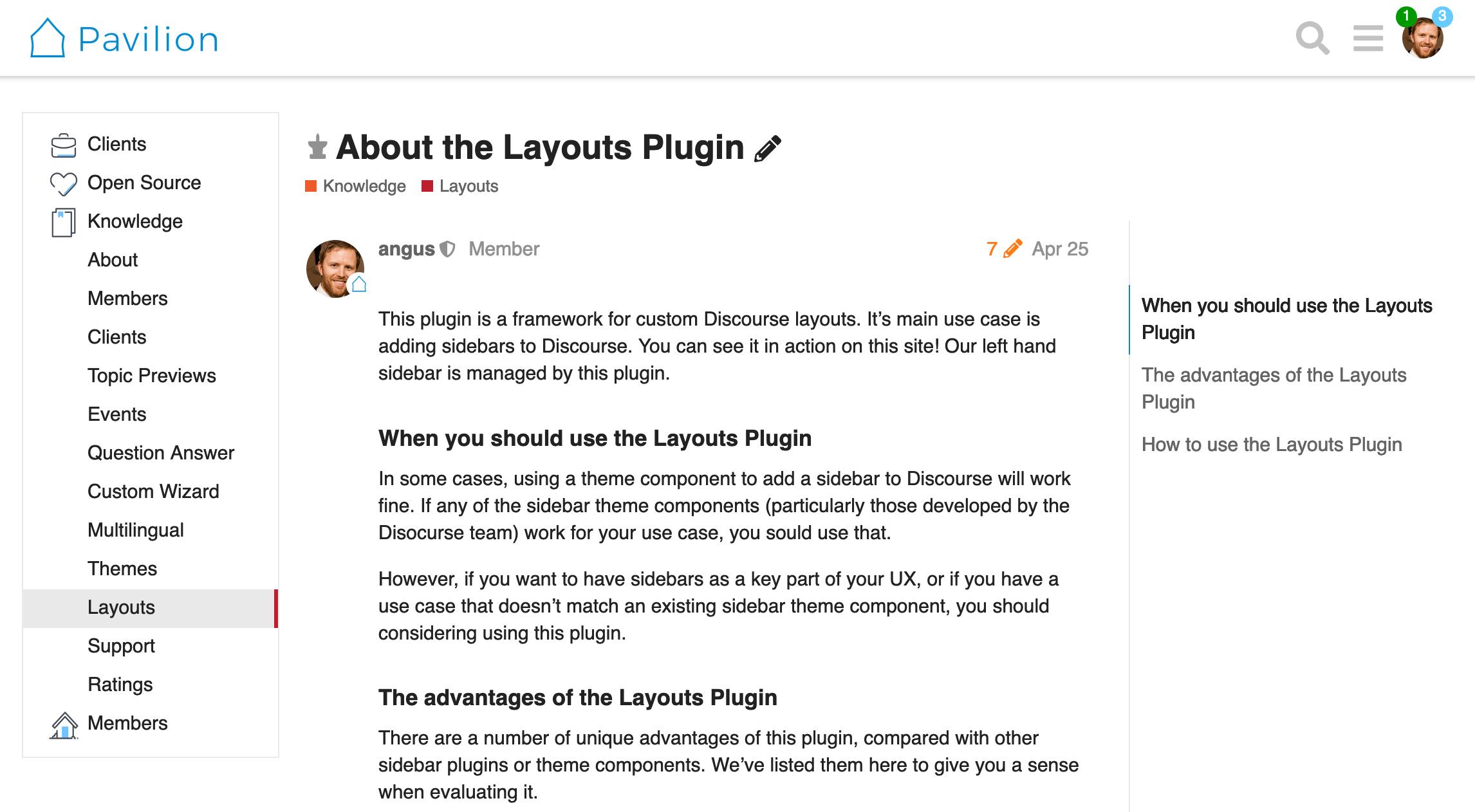 Layouts Plugin Desktop Screenshot