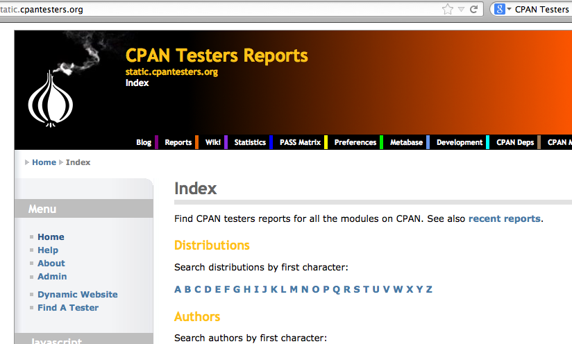 CPAN Testers Reports