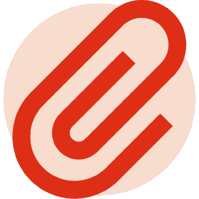 Shrine logo: a red paperclip