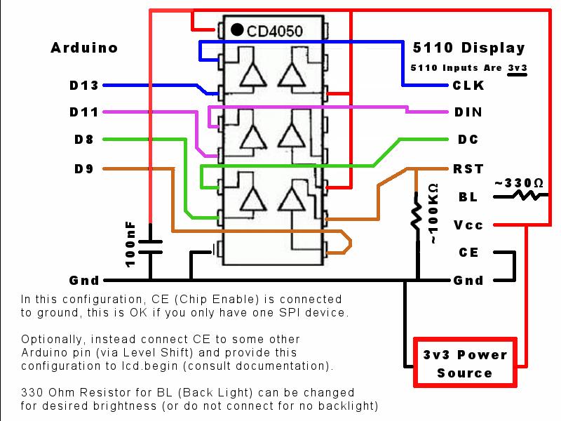 Pcd8544 Simple  Levelshift Md At Master  U00b7 Sleemanj  Pcd8544
