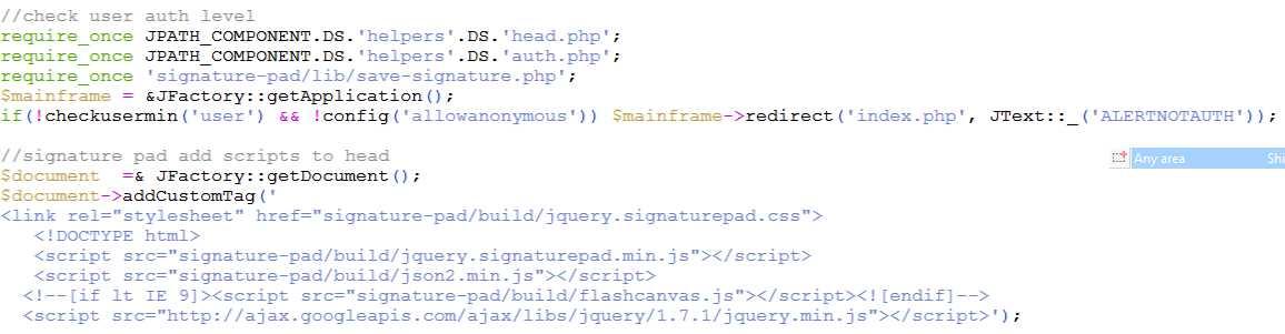 Incorporate in Joomla component · Issue #58 · thread-pond/signature