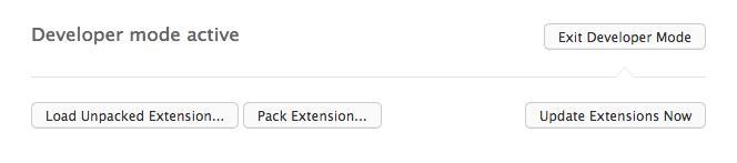 Picture of Opera Extensions Manager Load Unpacked Extension button