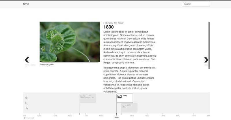 Timeline JS Plugin Screenshot