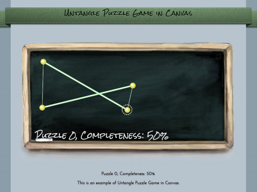 Untangle game screen