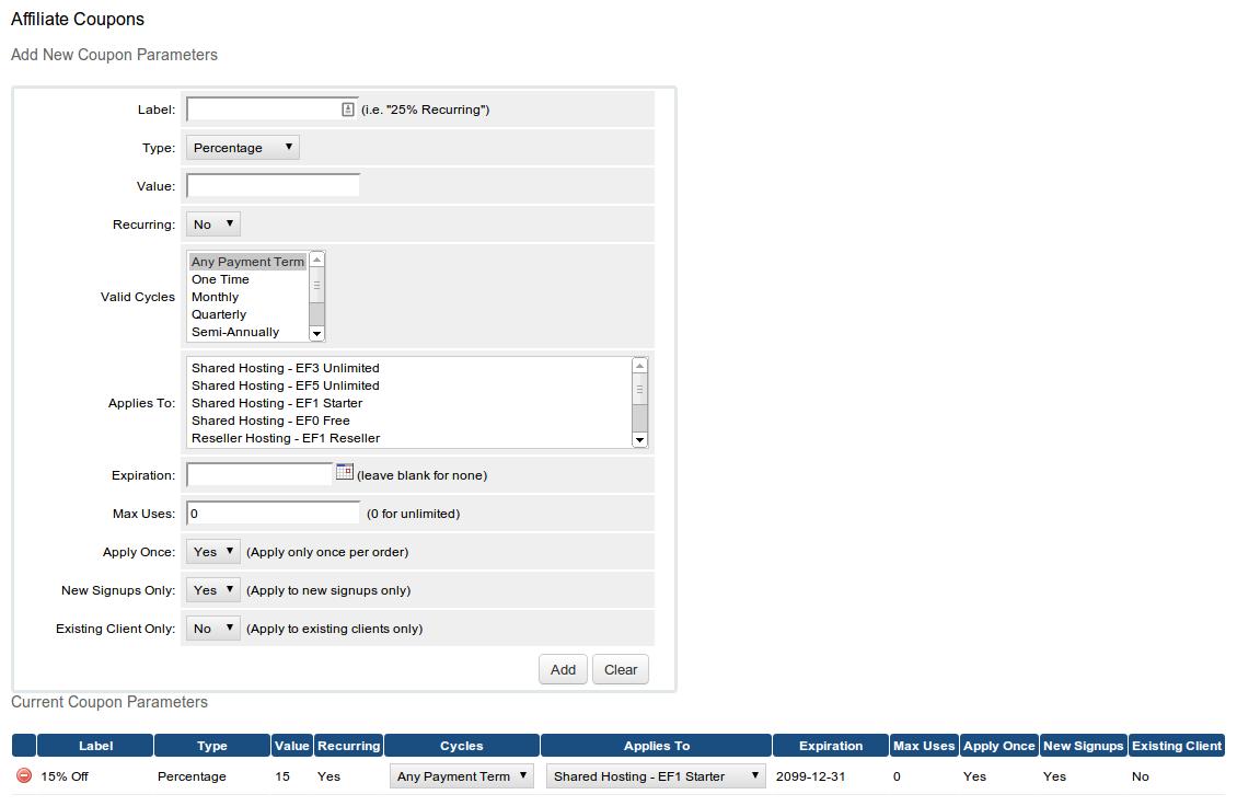 GitHub - tripflex/whmcs-affcoupons: WHMCS Addon to allow