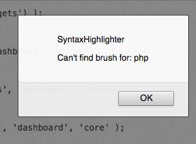 SyntaxHighlighter error