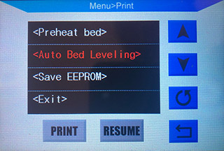 Start Auto Bed Leveling