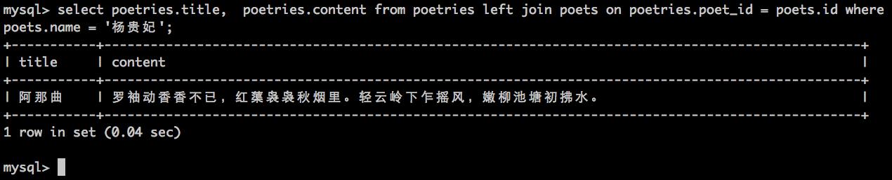 杨贵妃的诗歌