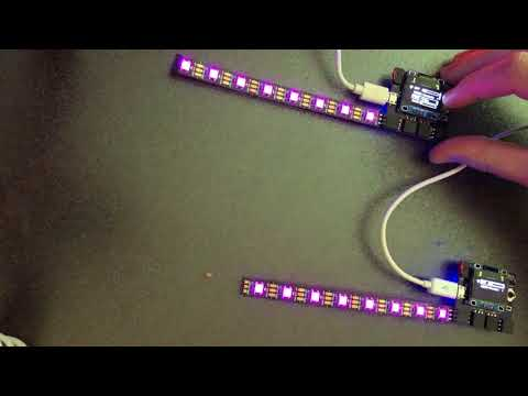 Video of a tech demonstration of Raver Lights version 3