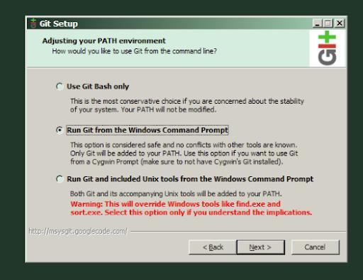 Um, what? Git Installation on Windows