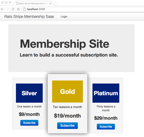 Rails Application for a Membership, Subscription, or SaaS Site