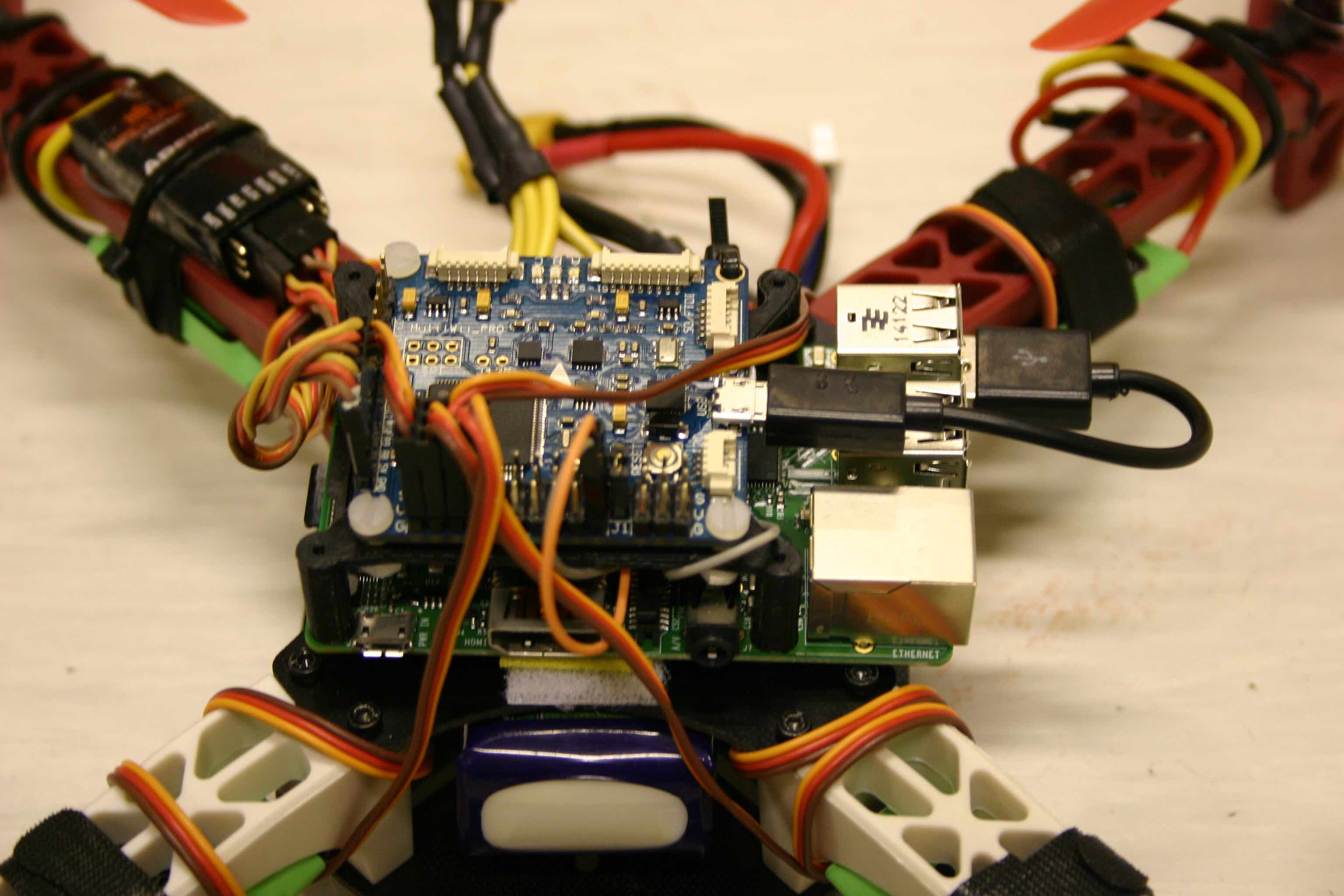 MultWii and Raspberry Pie on a quadcopter