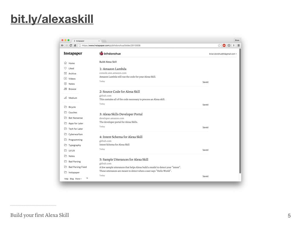 Alexa Skill Links
