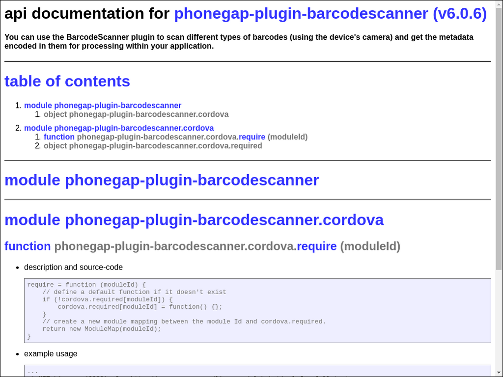 npmtest-phonegap-plugin-barcodescanner 2017 4 27 on npm - Libraries io