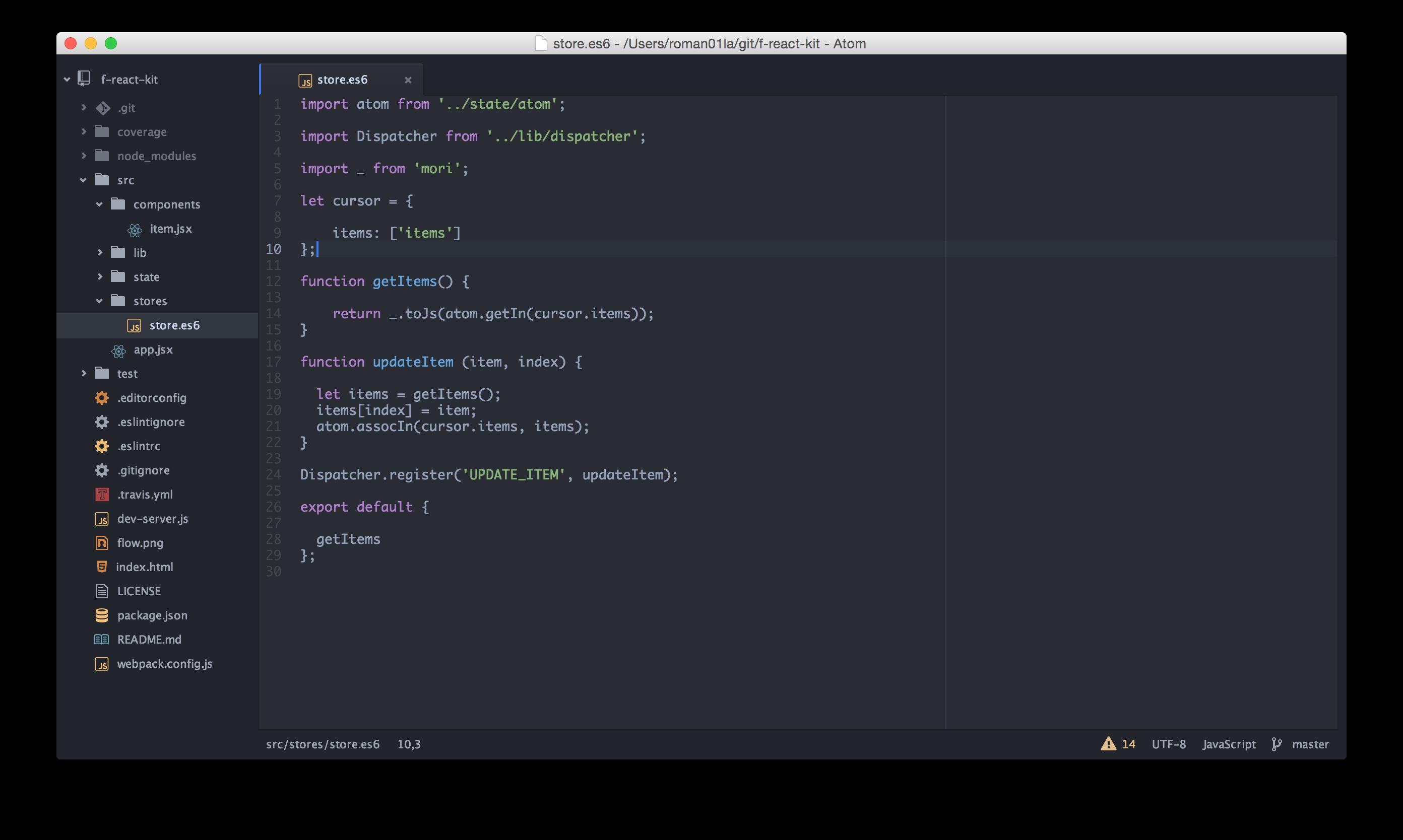 roman01la's code editor