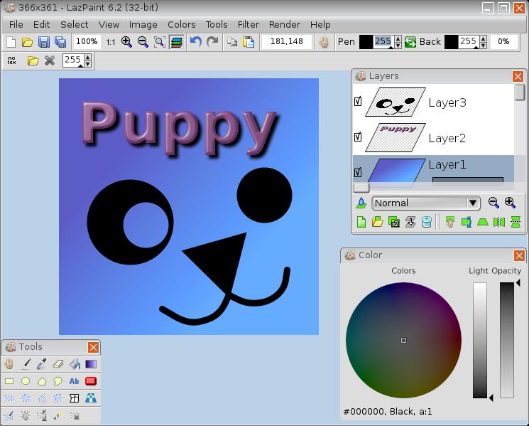 LazPaint Puppy Linux
