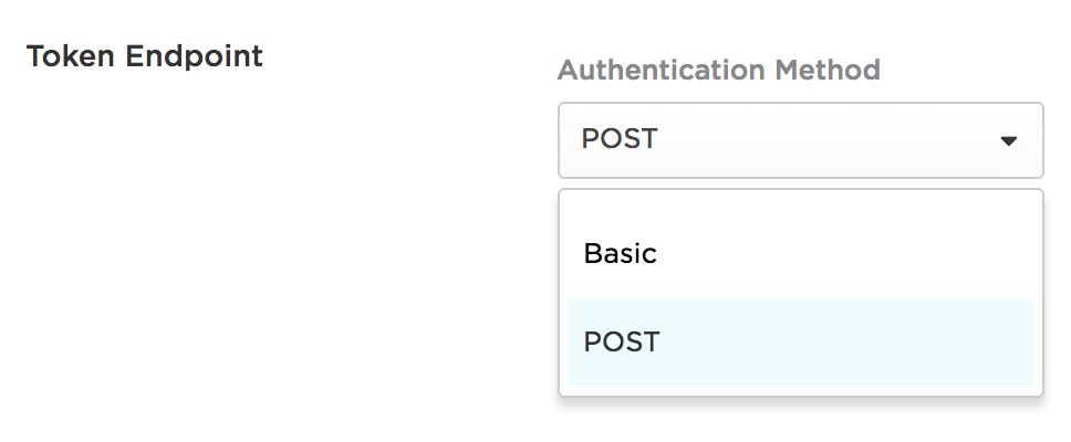 Token Endpoint Authentication Method