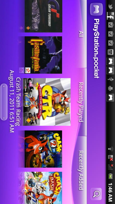 Icon not showing in Xperia Play Launcher (Playstation Pocket app