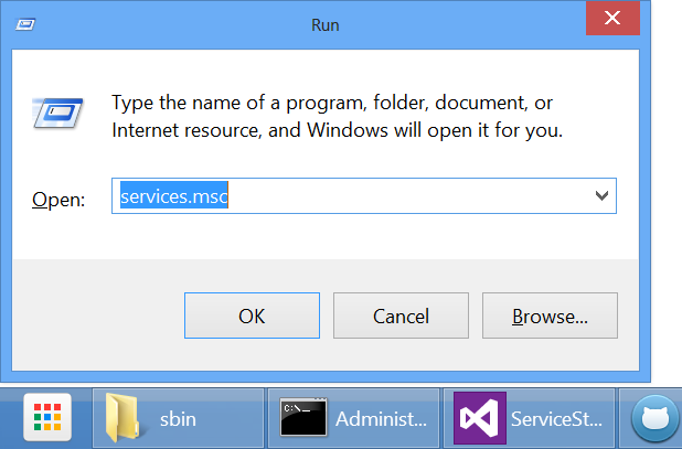 Windows Run Dialog