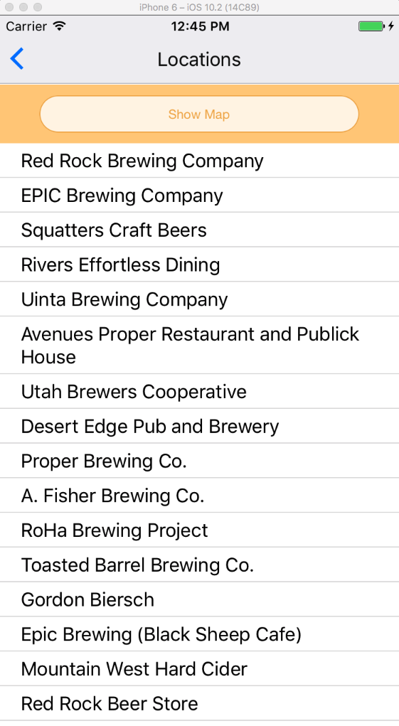 Brewery/Pub Listings