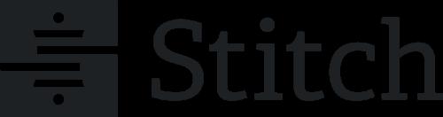 Stitch black and white logo