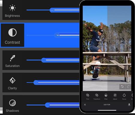 VideoEditor SDK Adjustments