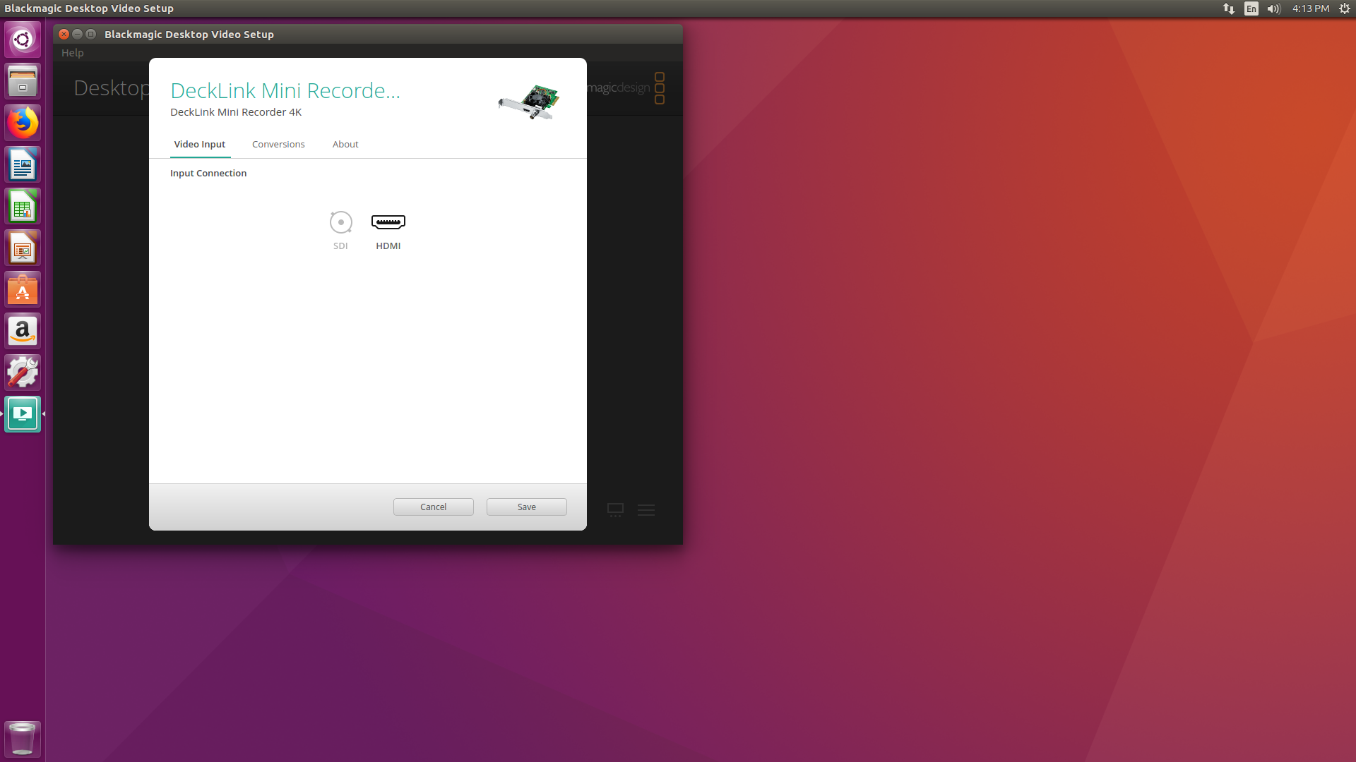 Desktop Video Input