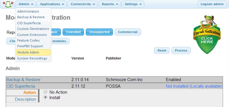 Installing Caller ID Superfecta v2 11 x Module for FreePBX