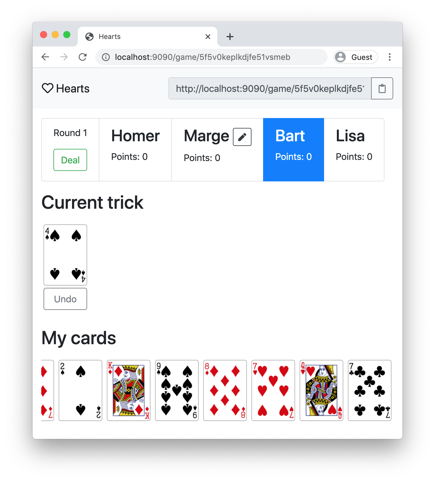 Screenshot playing a trick